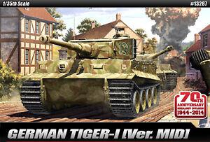 ACADEMY-GERMAN-TIGER-I-VER-MID-13287-1-35-Scale-Plastic-model-set