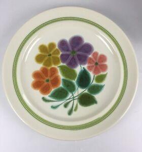 """Franciscan Ware """"Floral"""" pattern, Dinner Plates 1970's Vintage 2 ea"""