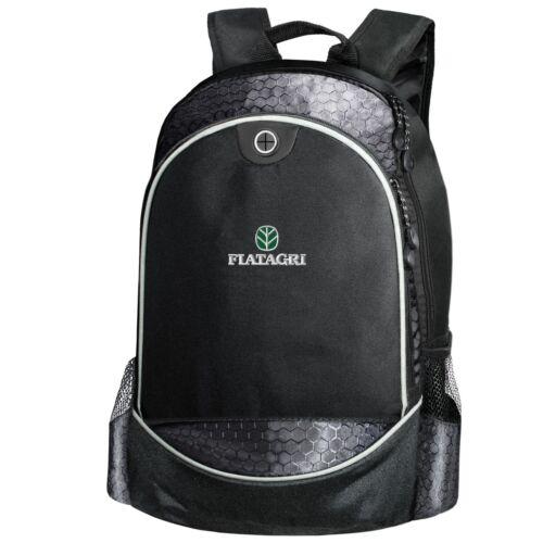 Fiatagri CARBON Backpack EMBROIDERED Tractor Logo Agriculture Bag T Shirt Mens