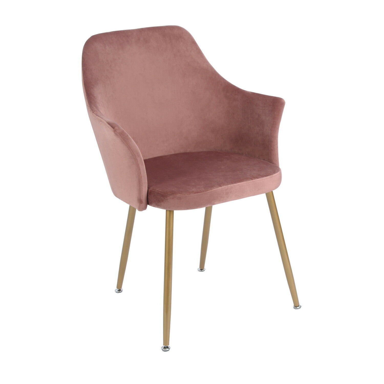 2 rosa vintager retro stuhl sessel polstersessel massives. Black Bedroom Furniture Sets. Home Design Ideas