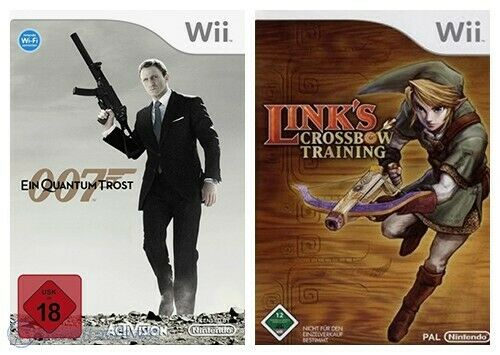 Wii Bundle Bond 007 Ein Quantum trost / Quantum of Solace & Link Crossbow Traini