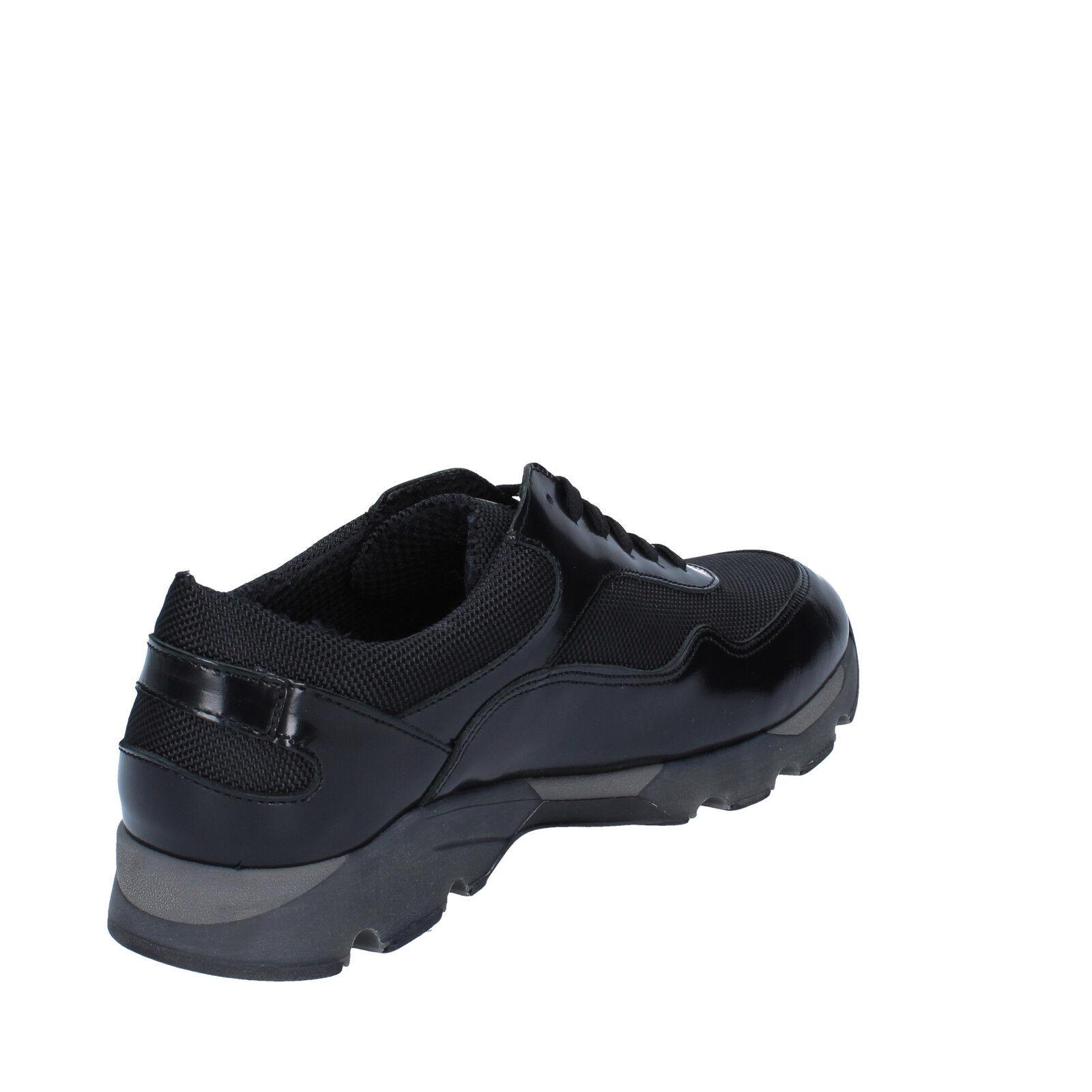 uomo BALDININI 40 EU scarpe da ginnastica nero pelle/tessuto pelle/tessuto nero BY537-40 6a9282