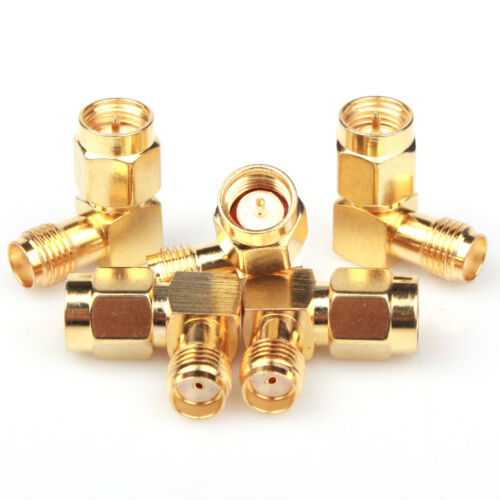 MD SMA Male To SMA Female RF Connector Adapter Plug Jack 90° Right Angle 25 Pcs