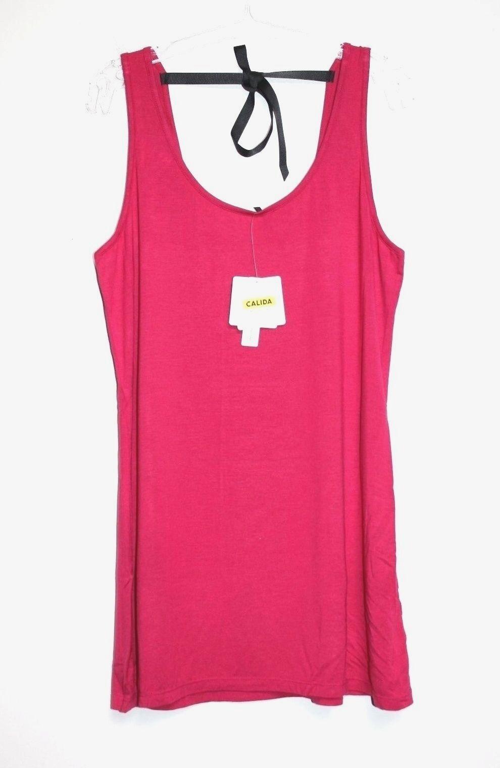 Calida - M - NWT - Pink Modal Jersey Knit - Sleeveless Tunic Lounge Top