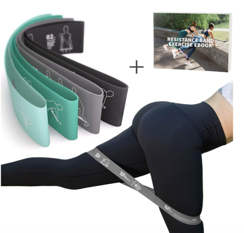 WORKOUT RESISTANCE BAND Fitness Exercise Set Elastic Rubber Stretch Train Travel
