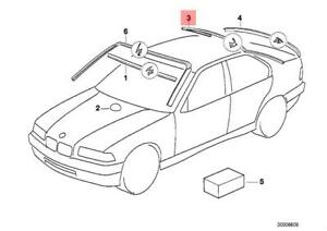 genuine bmw e36 sedan windshield moulding trim seal oem 51311977277 Red E36 Convertable image is loading genuine bmw e36 sedan windshield moulding trim seal