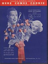 1935 Movie (Love in Bloom) Sheet Music (Here Comes Cookie)