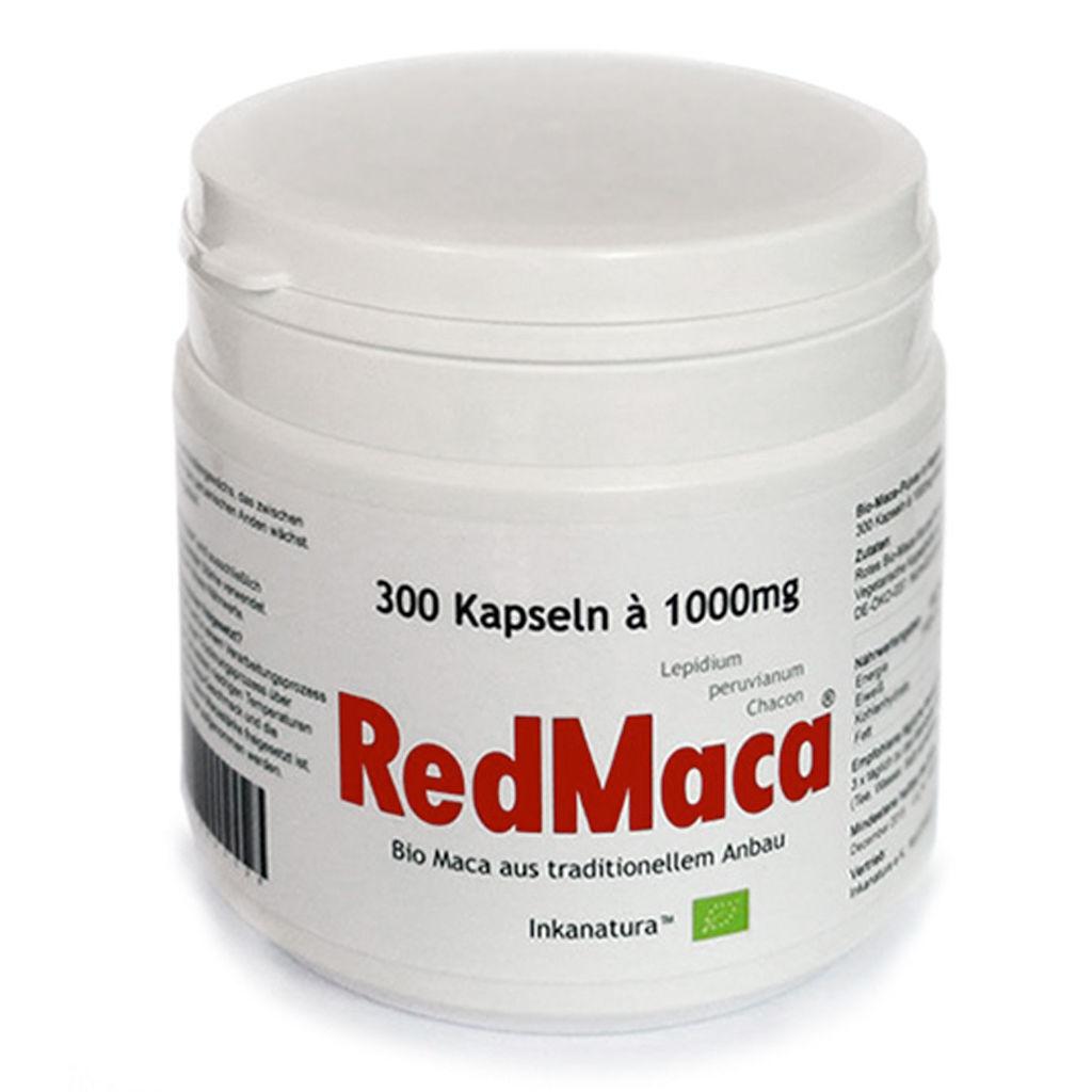 300 Stk.rojo MACA capsulas a 1000mg UE Bio Certificado   Bio-seal - INKANATURA™