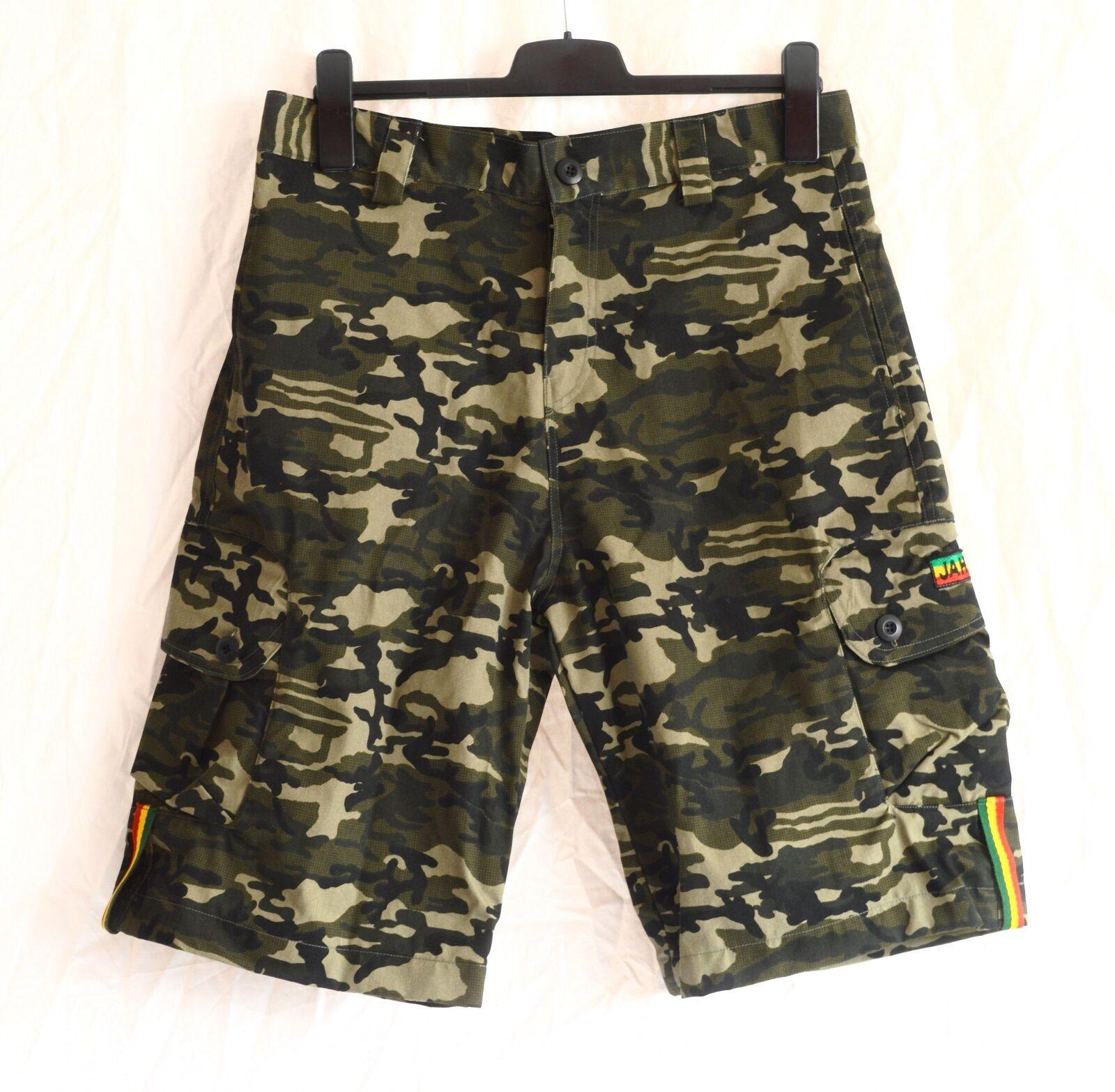 Rasta Shorts Bermuda _ _ camouflage _ Bermuda Shorts _ reggae, Jah Army