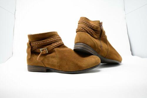 Minnetonka Women/'s Dixon Booties Round Toe Side Zip #563 Dusty Brown Suede