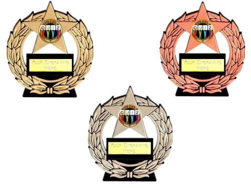 QUIZ night mega star trophy free engraving gold silver bronze trophies
