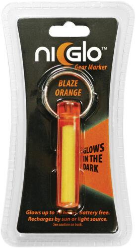 """Ni-Glo 2/"""" Solar Gear Marker Blaze Orange Glows For Up To 10 Hours"""