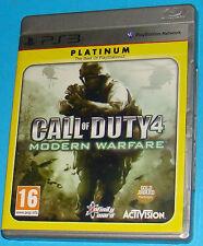Call of Duty 4 - Modern Warfare - Sony Playstation 3 PS3 - PAL