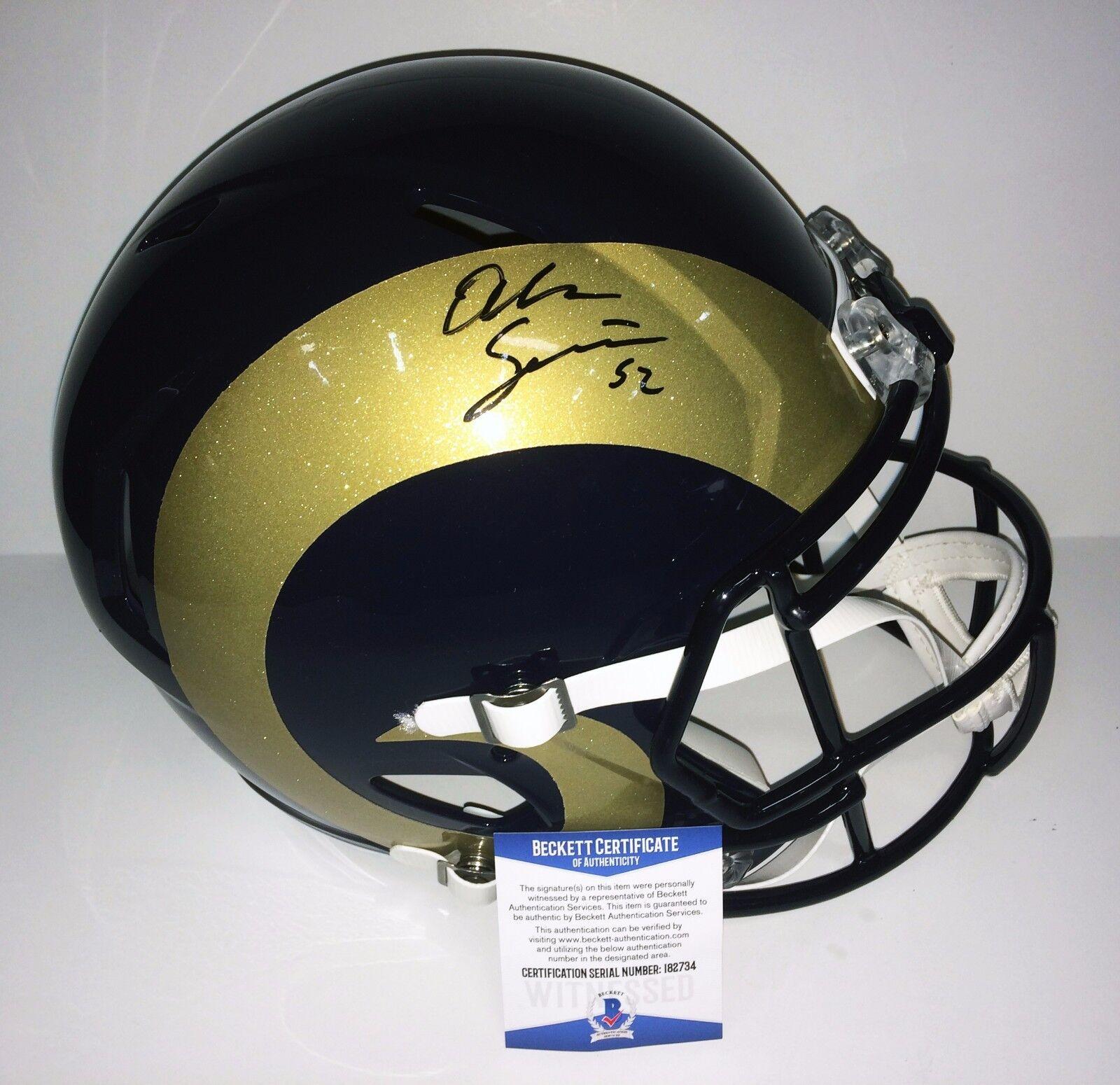 Alec Ogletree Signed Speed Los Angeles Rams Full Size Football Helmet BAS I82734