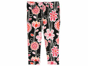 Gymboree-Purrfectly-Fabulous-Size-12-Girls-Cropped-Pants-New-Orange-Pink-Black