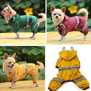 Dog-Rain-Coats-Waterproof-Pet-Outdoor-Winter-Jacket-Reflective-Puppy-hoodie-UK