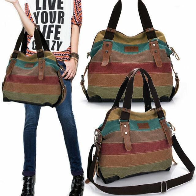 Women Fashion Shoulder Bag Satchel Crossbody Tote Handbag Purse Messenger Canvas