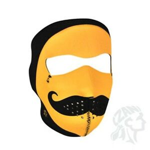 image is loading black yellow smiley face amp mustache neoprene face