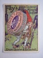 Bad Soden am Taunus - Fay's ächte Sodener Mineral-Pastillen Zwerg / Reklamemarke