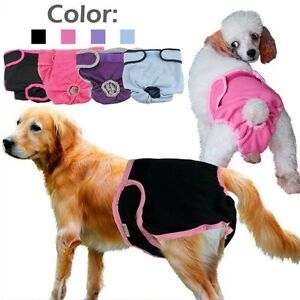 Female-Pet-Dog-Pants-Bitch-Heat-In-Season-Menstrual-Sanitary-Nappy-Diaper-XS-XL