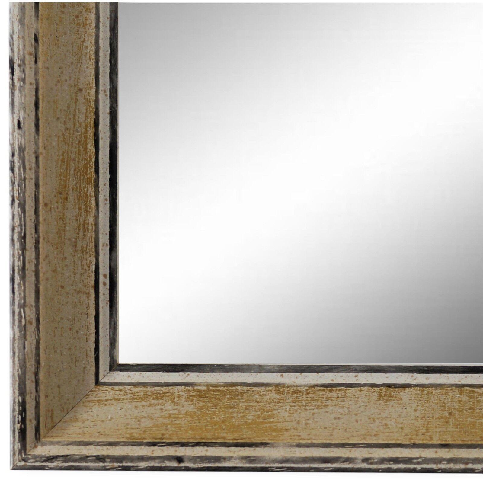 Wandspiegel Spiegel Creme Vintage Retro Holz Lucca 3,0 - NEU alle Größen