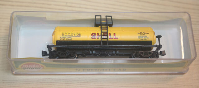 Model Power 3455 N Scale 40'  Chemical Tank Car SHELL. 1105  NIB