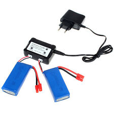 2x7.4V 2500mAh RC Lipo Battery+2 V 1 2S Balance Charger for Syma X8HW X8HC X8HG