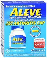 Aleve Gelcaps Easy Open Arthritis Cap 40 Gelcaps (pack Of 5) on sale