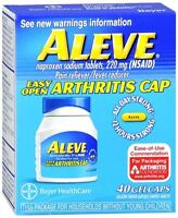 Aleve Gelcaps Easy Open Arthritis Cap 40 Gelcaps (pack Of 5) on sale