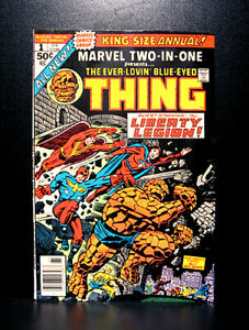 COMICS-Marvel-Two-In-One-Annual-1-1976-1st-Sky-Shark-Thing-Liberty-Legion