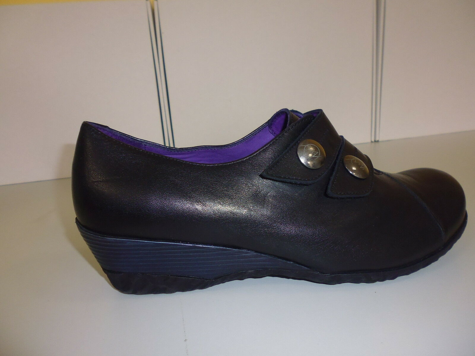 Chaussures Femmes Chaussures Slipper Velcro Pantoufles orKRONE noir taille 41 (7,5)