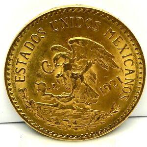 Rare1921-11-Mexico-Gold-20-Pesos-BU-Uncirculated-Aztec-Calendar-4823-oz-AGW