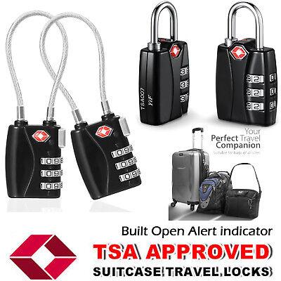 4x Combination Padlock Travel Suitcase Bag Backpack Locker 3-Dial Luggage Locks