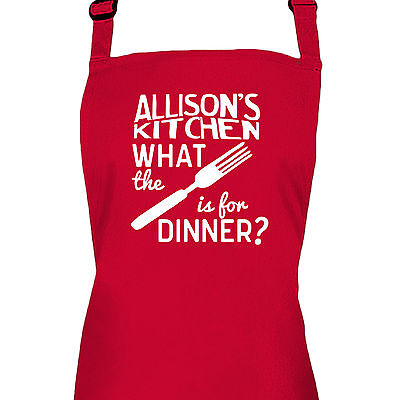 Personalised Ladies Cooking Kitchen Baking Apron by Inspired Creative Design