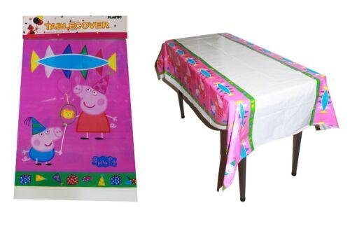 Papá Pig /& George Niños Cumpleaños Fiesta colorida decoración de la mesa Ware 108x108CM