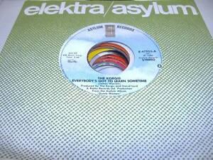Rock-Unplayed-NM-45-THE-KORGIS-Everybody-039-s-Got-To-Learn-Sometime-on-Asylum