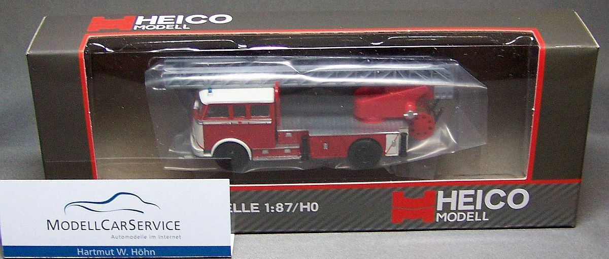 Von heico modell (h0) hc 2009  mercedes lp 329 feuerwehr dl 30 metz, rot   wei ß