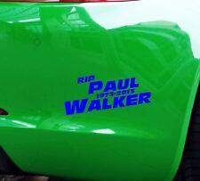 Aufkleber RIP Paul Walker Auto JDM Tuning OEM Decal Stickerbomb 15x6 cm blau