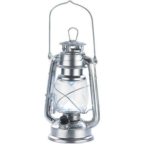 Batteriebetrieb 1,5 W silbern 42 Lumen Lunartec Dimmbare LED-Sturmlampe