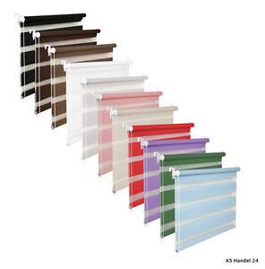 massanfertigung-Doble-Rollo-Persiana-de-ventana-VER-Blanco-Purpura-Gris-Rojo