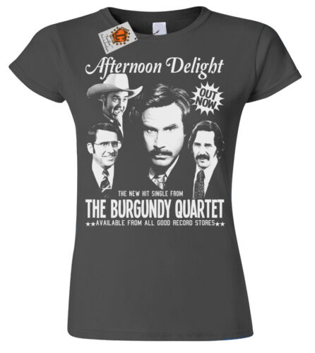 Afternoon Delight Ron Burgundy ladies T-shirt womens inspired by Anchorman Sale