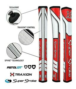 New-Super-Stroke-Traxion-Pistol-GT-2-0-Putter-Grip-RED-FREE-SHIPPING