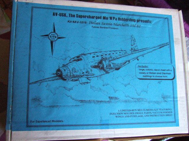1 72 scale  Savoia Marchetti SM 82  Aviation Usk  AV-USK Kit N° AV 1018