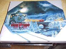 "MR CHRISTMAS 8"" X 10"" ILLUMINATED CANVAS ARTWORK TRAIN"