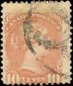 Canada-Used-1897-10c-VG-F-Scott-45-Small-Queen-Stamp