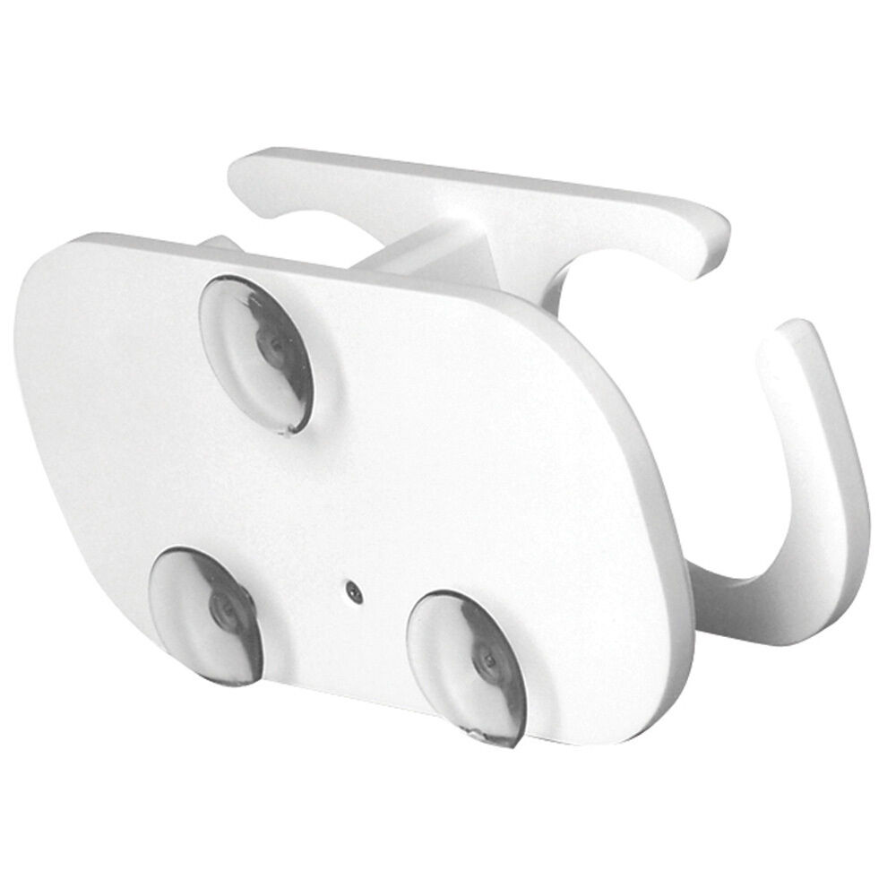 TACO 2-Drink Poly Cup Holder w Suction Cup Mounts - White