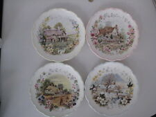 ROYAL ALBERT FRED ERRILL COTTAGE GARDEN YEAR SERIES SET 4 SEASONS PLATES ENGLAND