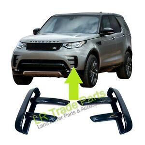 LAND-ROVER-DISCOVERY-5-FRONT-BUMPER-DYNAMIC-GLOSS-BLACK-VENT-TRIMS-HSE-UPGRADE