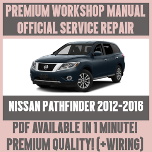 Details about *WORKSHOP MANUAL SERVICE & REPAIR GUIDE for NISSAN PATHFINDER  2012-2016 +WIRING