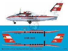 Peddinghaus 1/72 Let L-410UVP Turbolet Markings DDR-SXE Interflug E.Germany 3164